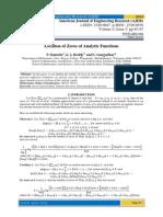 Location of Zeros of Analytic Functions