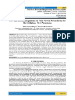 Flow and Diffusion Equations for Fluid Flow in Porous Rocks for the Multiphase Flow Phenomena