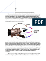 Electronically Controlled Clutchless or Variable Drive Compressors