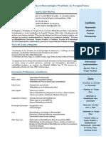 Curriculum 2015 (c) MSc Beatriz Isler