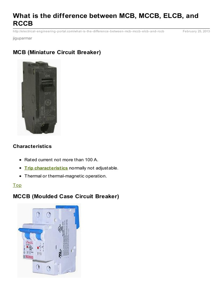 What Is The Difference Between Mcb Mccb Elcb And Rccb M60 Circuit Breaker Mini China 2 Electric Power Distribution Wire 11 06 13 5 6