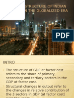 Changing structure of Indian economy in the globalized era