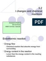5.2 Heat Changes in Chemical Reactions