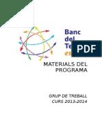 Materials Programa Bdte