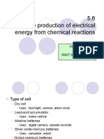 5.6 the Production of Electrical Energy From Chemical Reaction