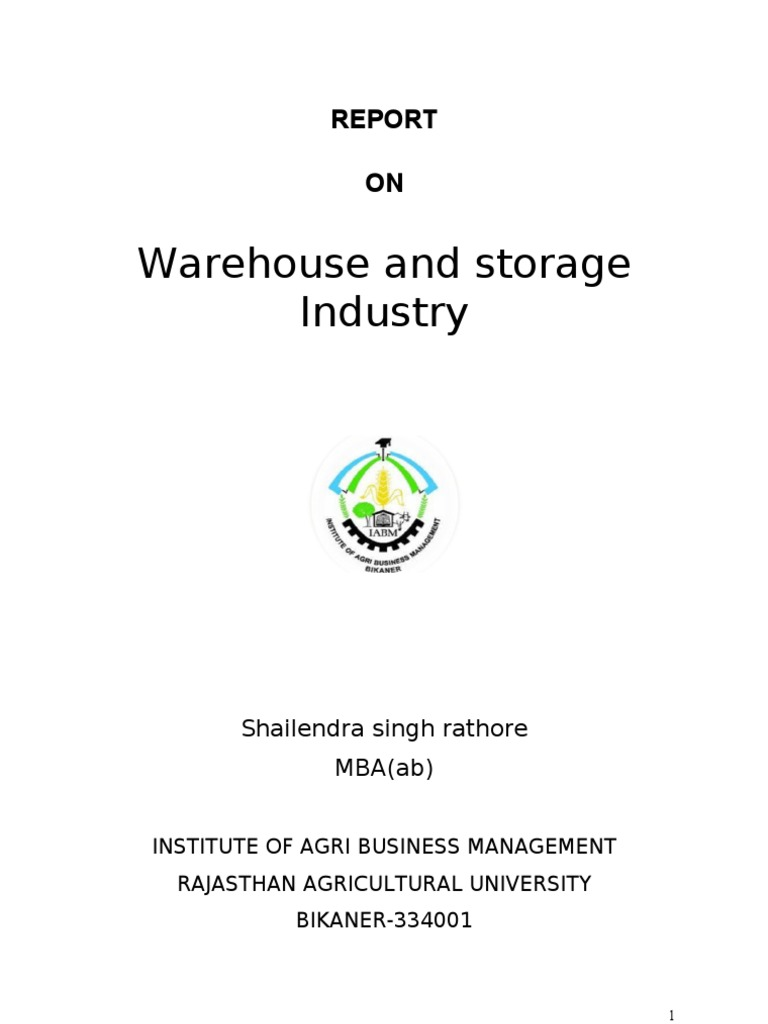 Warehouse & Storage Industry of India | Warehouse | Business