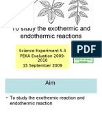 Experiment to Study the Exothermic and Endothermic Reactions