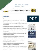 Glossário _ Para Ser Piloto
