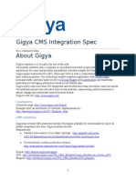 Gigya Specification for Commerce Integration