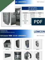 Ericsson Rbs 2116 1800mhz