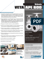 Smv Valvulas Industriais Ltda Valvula Gaveta Catalogo Tecnico Da Valvula Gaveta API 600 652303