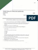 Percubaan UPSR 2015 - Kedah - Sains