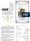 Charles Letcher Funeral Program