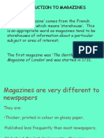 Magazines Power Point