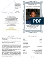 Kristofer Ford Funeral Program