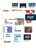 Cartoon Character Sticker Award