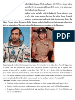 Rakesh Sharma Chandrayaan Satellite Information and Pic 1 Page Each