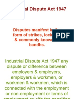 Industrial Dispute Act 1947- Unit V