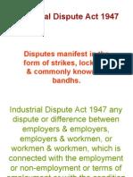 Industrial Dispute Act 1947- Unit V