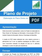 Plano de Projeto - Elaboração de PDTI