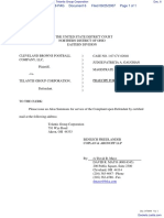 Cleveland Browns Football Company LLC v. Telantis Group Corporation - Document No. 6
