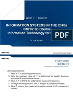 Week 01 - Topic 01 - Information Systems in the 2010s