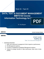 Week 02 - Topic 03 - Data, Text _ Document Management