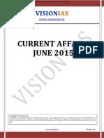VisionIAS Current Affairs Jun 2015 by Raz Kr