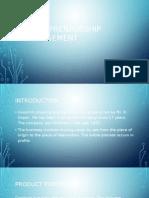 Entrepreneurship Management