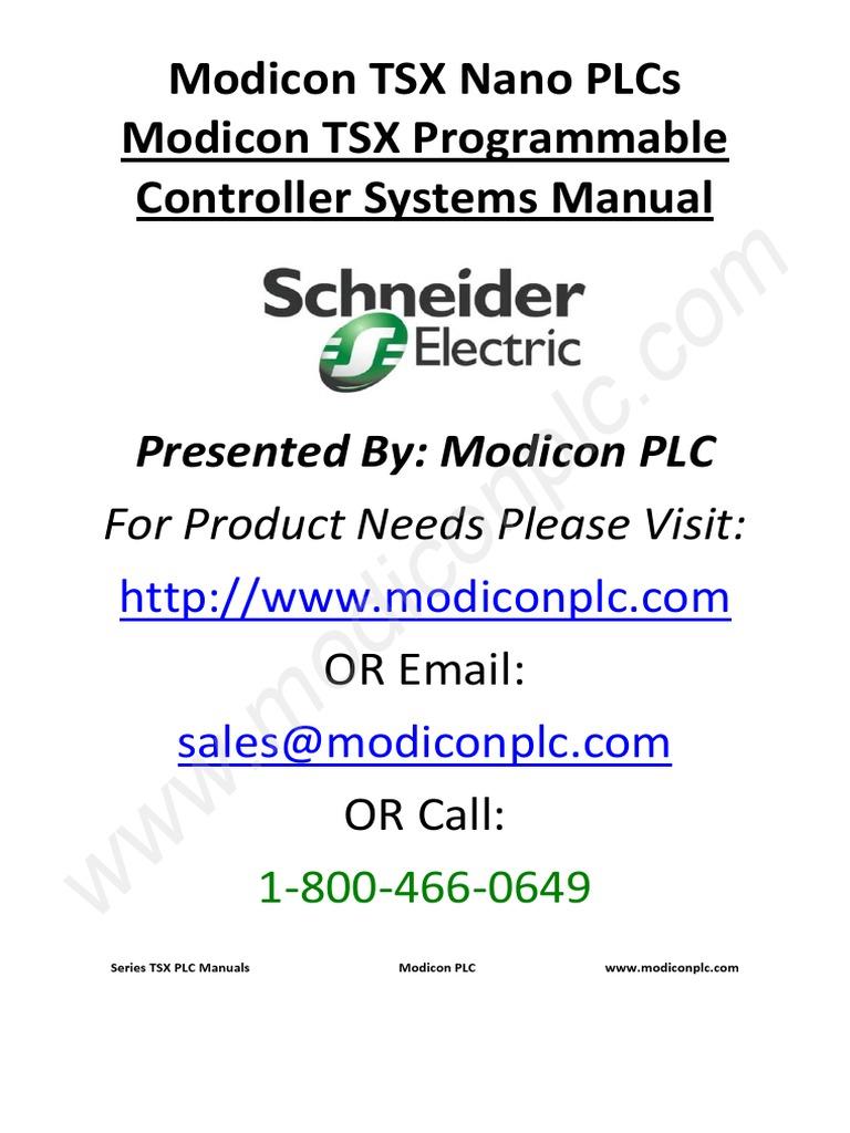 Modulo TSX | Programmable Logic Controller | Electromagnetism