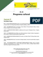 Programa Cultural FIL 20