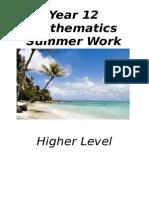 Year 12 Hl Summer Work