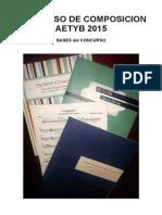 Concurso Composición AETYB 2015 - Bases