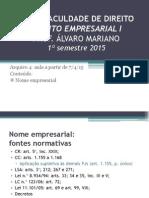 FDUFG - Direito Empresarial I - 4 - Aulas TGDCO (1sem2015).pdf