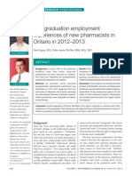 Postgraduation employment for pharmacists