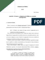 Fichamento Adm Pub 001 - O Estado e a Administração Pública