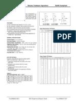 Datasheet Tantalum Capacitors
