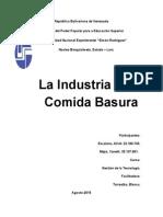 INDUSTRIA DE LA COMIDA BASURA