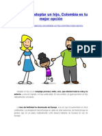 Si quieres adoptar un hijo, Colombia es tu mejor opción