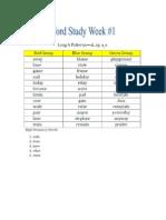 word study week 1