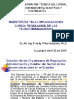 Maestria de Telecomunicaciones IV, Marco Regulatorio de las Telecomunicaciones Version 2