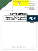DENSO Common Rail Isuzu 6HK1 6SD1 Service Manual Pages