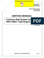 DENSO Common Rail Isuzu 6HK1 6SD1 Service Manual Pages
