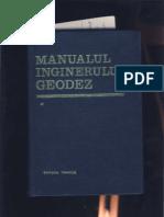 Manualul Inginerului Geodez Vol I