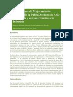 El Programa de Mejoramiento Genético de La Palma Aceitera de ASD Costa Rica y Su Contribución a La Industria