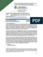 Programa Introducción a la Investigación en Ciencias Sociales