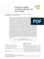 International Trends in Public Perceptions of Climate Change Over the Past Quarter Century