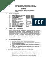 Operaciones de Procesos Unitarios(Syllabus)