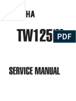 Yamaha TW 125 Service Manual - 1999