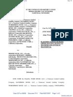 Word Music, LLC et al v. Priddis Music, Inc. et al - Document No. 75